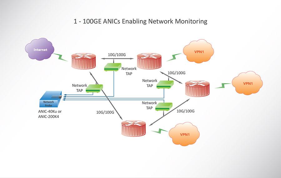1 - 100GE ANICs Enabling Network Monitoring