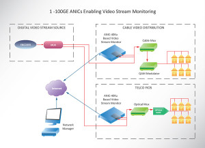 1 - 100GE ANICs Enabling Video Stream Monitoring