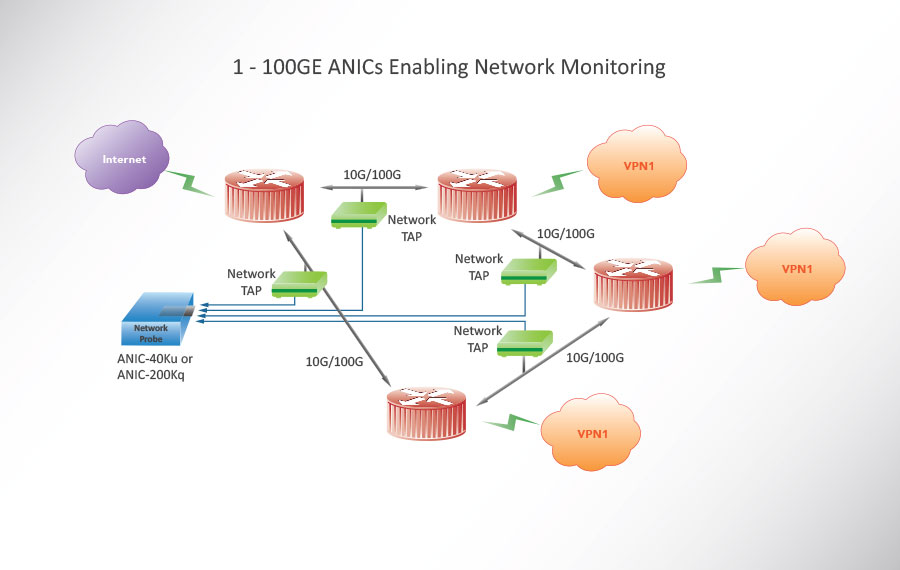 1 - 100GE ANICs Enabling Network Monitoring